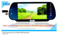 China 7inch car rearview mirror monitor with bluetooth mp5 on hottest selling company