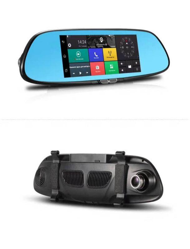 7inch Car Gps Dvr Gps Navigation Rearview Mirror Camera 1080p Dash